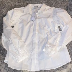 New! worthington white long sleeve button up
